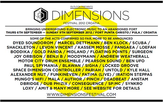 Dimensions Festival – Fort Punta Christo, Pula, Croatia September 6 – 10