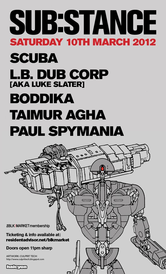 SUB:STANCE with BOddika and Scuba, March 10th NYC secret location