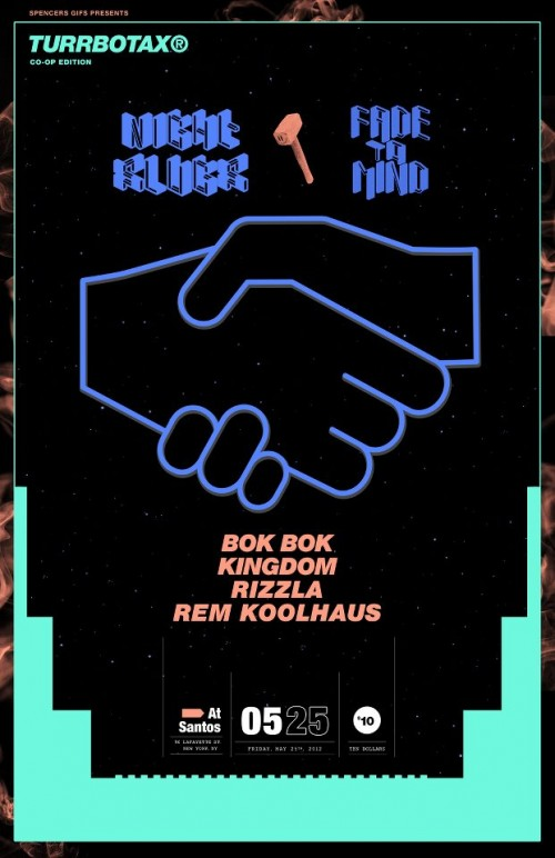 FRI: TURRBOTAX Co-Op Edition ft. BOK BOK, KINGDOM, RIZZLA, REM KOOLHAUS [11PM/$5]