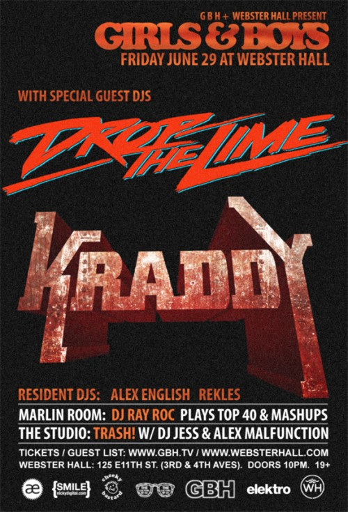 FRI: Drop the Lime, Kraddy at Webster Hall [11PM/$15]