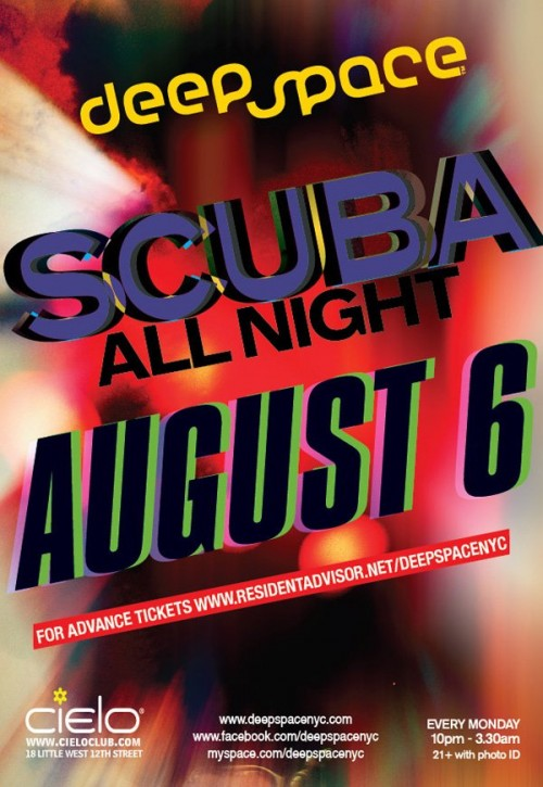 MON: Scuba all night at Deep Space at Cielo [10PM/$15]