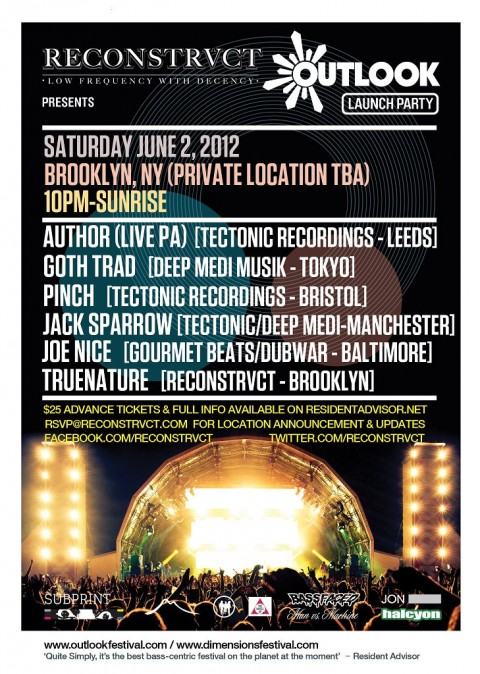 SAT: RECONSTRVCT Presents: Outlook NYC Launch party! PINCH, AUTHOR (LIVE PA), MORE