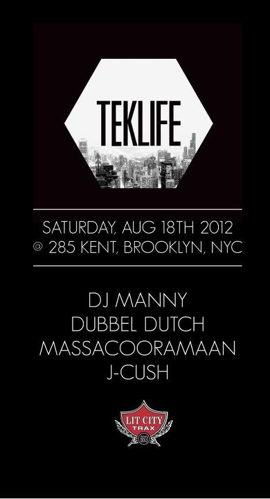 LIT CITY RAVE ► DJ MANNY [TEKLIFE] | ANCESTRAL CLUB MIX DJS debut: DUBBEL DUTCH & MASSACOORAMAAN | J-CUSH