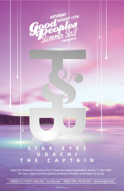 august 11 saturday trouble and bass x good peoples summer sail Star Eyes Udachi The Captain & Secret UK Guest wut