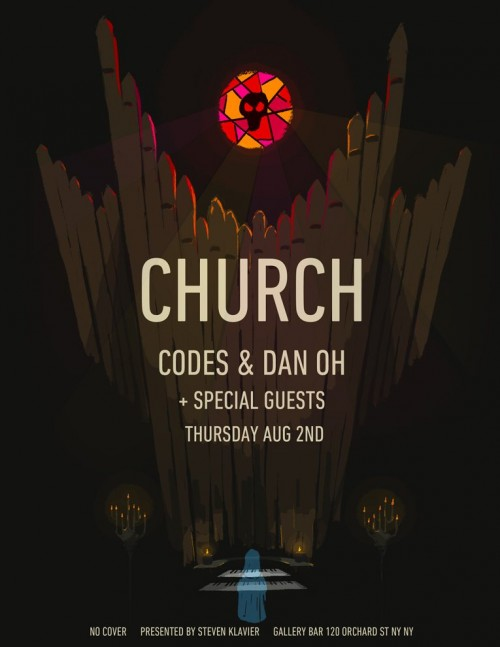 CHURCH thursday august 2 CODES (Slow Roast Records) DAN OH (Dim Mak) special guest gallery bar 120 orchard street