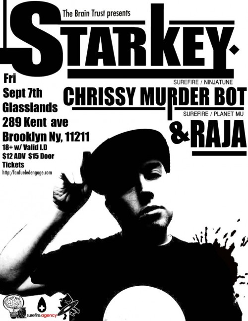 FRI: Starkey, Chrissy Murderbot at Glasslands [11:30/$12]