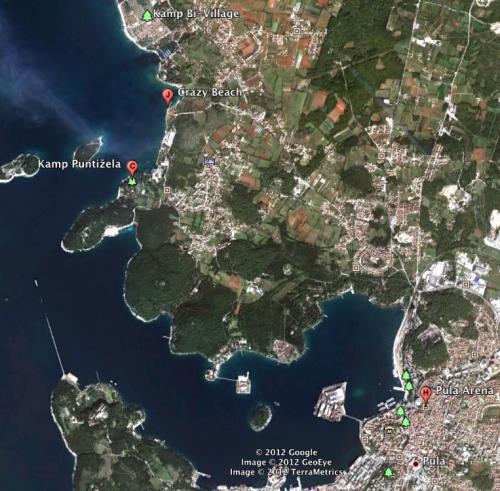 fazana pula arena puntizela fort punta christo istria croatia outlook 2012 lodging hotel hostel airbnb