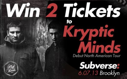 Win 2 tickets to see the formidable Kryptic Minds on their first-ever US tour alongside Asylum at Subverse in New York City on June 7th