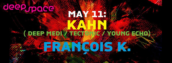 Deep Space Kahn (Deep Medi UK) & Francois K at Cielo Monday 11 May nyc bass music